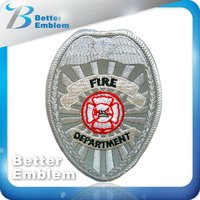 Reflective clothing emblem Embroidery Fire Military Patch