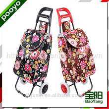 folding luggage cart for promotion rolling shopping tote bag