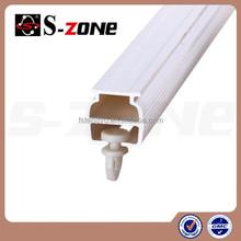 White Plastic Hanging Curtain Rail System Panel Curtain Track PVC SC06