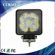 4.3inch 27w led working light for ATVs, SUV, UTV, truck, Fork lift, trains, boat, bus, and tanks