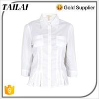 Apparel supplier Best selling Custom Fashion office wear shirts for women