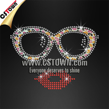 Big sunglasses lady whoelsale price glitter rhinestone design for t shirt shop