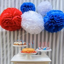 Tissue flower ball decorations/Hanging cheap paper flowers/Paper pom poms for event & party
