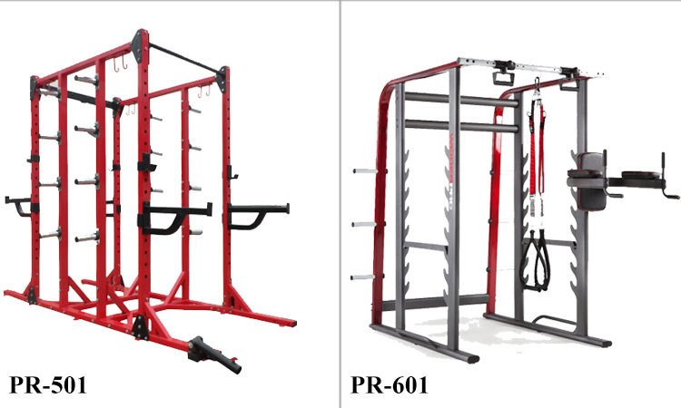 With J hooks and Lat down power cage powertec fitness equipment power rack