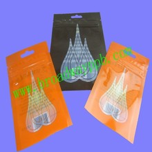 custom printed front windowed seeds packing plastic zipper pouch bag