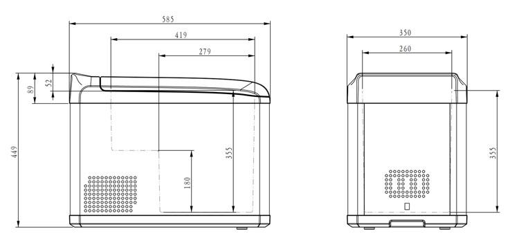haute fiabilit dc compresseur 32l 42l petite mini m dicaments r frig rateur pour l 39 insuline. Black Bedroom Furniture Sets. Home Design Ideas