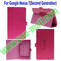 Genuine Book Leather Case for Google Nexus 7 Second Generation with Stand