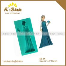 kitchen accessories Frozen Elsa Snnow Queen silicone mold fondant cake decoration