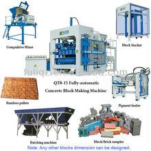 Qt8-15 totalmente automático moldes de hormigón de ladrillo productos que se pueden importar de china