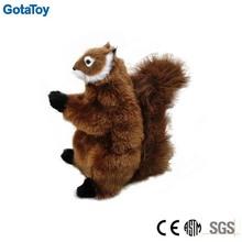 Custom plush squirrel with squeaker in body