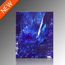 Blue Abstract Painting Art On Canvas/Abstract Art China/Hot Sale Wall Photo