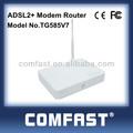 thomson v7 4 puertos 54m wireless adsl2 módem router adsl comfast tg585v7