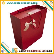 clothing and shoe packing hot paper shopping bag with handle and custom logo
