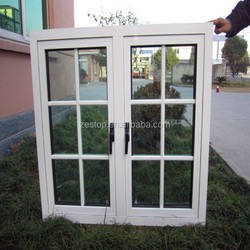 Double glazed soundproof aluminum window grill designs home