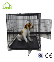 2015 new design dog cage foldable outdoor Two door dog cage Dog Car Cage