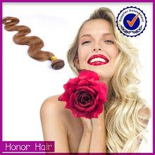 Supreme mink alibaba top sale blonde and brown body wave honey blonde brazilian hair weave