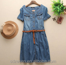 2015 Hot Sale Shorts Sleeve China Wholesale Latest Fashion Casual Dresses for Lady