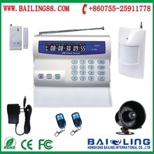 Cheapest Mobile call sms control GSM wireless smart alarm system for home/shop with Infrared /window sensors BL-2000
