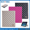 Oem Wholesale Double Heart Embroidery Diamond-Shaped Style Tablet Cover For Ipad Air 2 Leather Case With TPU Back Case