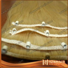 hot selling easy to attach 7A virgin Brazilian human hair easy ring weft