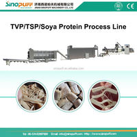 Textured Vegetable Protein Food Making Equipments/Concentrated Textured Soya Protein Making Machinery