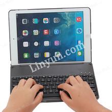 AAA Quality Mini Bluetooth Keyboard Hard Cover for iPad Air With Logo Hole