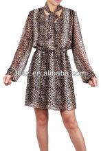 2015 fashion animal print women dress FH20140001