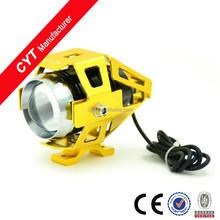 High power U5 15W 12V 6000K LED White Motorcycle Headlight LED Lights/gold