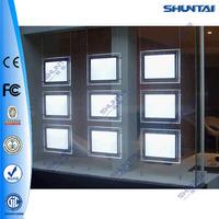 Side loading clear frameless A3 indoor led light box