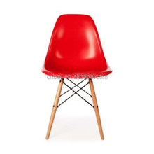 2015 New Style Retro Classic Eiffel Plastic DSW Lounge Dining Chair Red