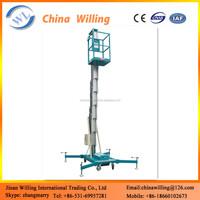cheapest aluminium single person hydraulic man lifts