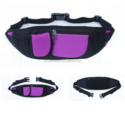 cheap waist bag polyester material with 1 or 2 zippered apartments