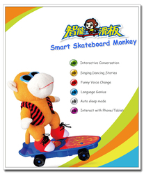 china new innovative products 2015 for import smart skateboard monkey