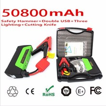 2015 Hot Selling 5v 12v 19v 12000mah Multi-function Emergency Mini Portable Power Bank Battery Car Jump Starter