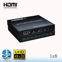 hdmi 5.1 splitter with heavy bass output 1 input 8 output
