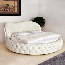 Luxury princess fabric beds with crystal modern luxury beds