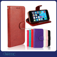 Retro wallet stand leather portfolio case for iphone 5 5s