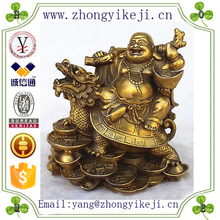 chinese factory custom made handmade carved antique resin laughing buddha