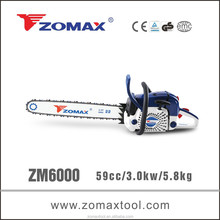 chain saws part 60cc ZM6000 268 chainsaw with china industrial partner