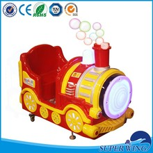 New ride the train, Kids coin operated amusement ride game machine