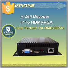 (DMB-8800B) DTVANE Hot Sale Compact MPEG-4 AVC/H.264 MINI VGA IP Video Decoder for HTTP RTSP to VGA out