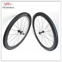 Farsports 50mm 23mm with edhub chinese carbon wheel sets clincher with ceramic hubs Sapim cx-ray spokes