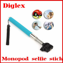 2014 New Product Monopod Stainless Steel Selfie Stick handheld extendable Digital Camera Bluetooth Monopod