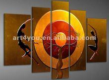 fabric abstract painting handmade