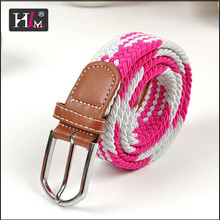 """2015 New Style 1.25"""" stretch elastic belt snap with leather taps"""
