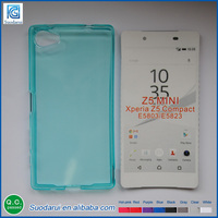 Soft Gel Silicon mobile Covers Transparent Candy colors TPU Case Cover For Sony Xperia Z5 mini
