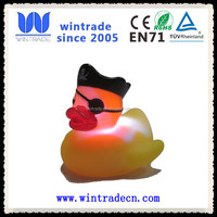 novelty carnival pirate LED bath rubber wholesale flashing duck
