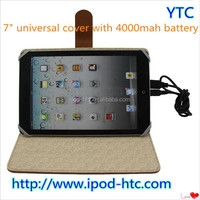 7inch tablet pc battery leather case