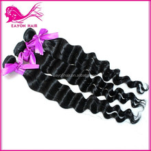 Hot sale human remy virgin malaysian deep wave curly hair weft for afica american black women
