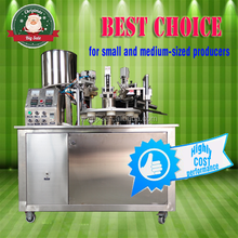 low-price semiautomatic soft tube filling machine for cosmetics paste, toothpaste, food
